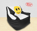 DOLPHIN XXL Beany Chair-Smiley Black/White-Cover (Without Beans)