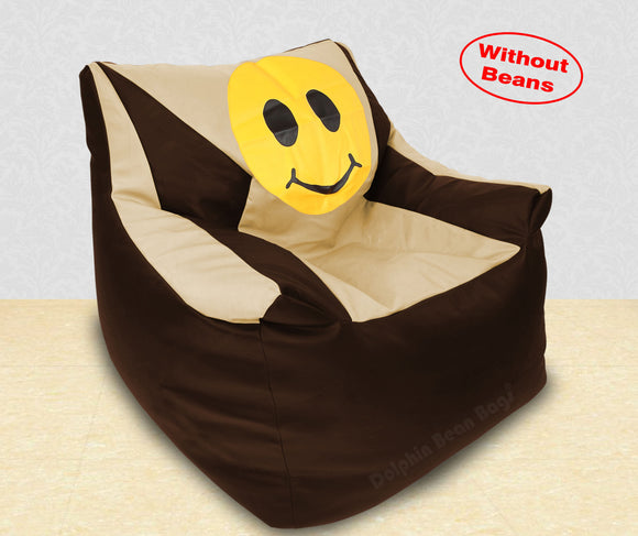 DOLPHIN XXXL Beany Chair-Smiley Brown/Beige-Cover (Without Beans)