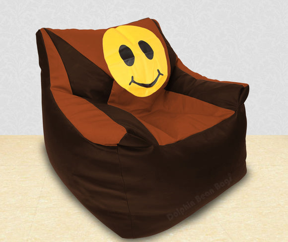 DOLPHIN XXXL Beany Chair-Smiley Brown/Tan-Filled (With Beans)