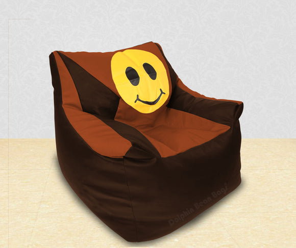 DOLPHIN XXL Beany Chair-Smiley Brown/Tan-Filled (With Beans)