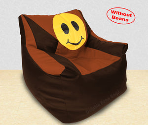 DOLPHIN XXXL Beany Chair-Smiley Brown/Tan-Cover (Without Beans)