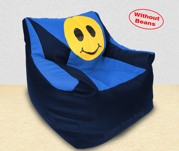 DOLPHIN XXXL Beany Chair-Smiley N.Blue/R.Blue-Cover (Without Beans)