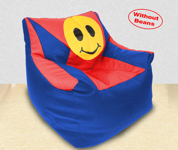 DOLPHIN XXXL Beany Chair-Smiley R.Blue/Red-Cover (Without Beans)