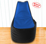 DOLPHIN XXL Boot Shape Recliner Black/R.Blue-Cover (Without Beans)