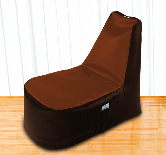 DOLPHIN XXL Boot Shape Recliner Brown/Tan-Filled (With Beans)