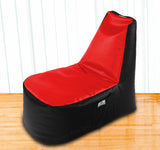 DOLPHIN XXL Boot Shape Recliner Black/Red-Filled (With Beans)