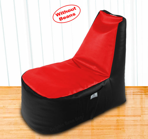 DOLPHIN XXL Boot Shape Recliner Black/Red-Cover (Without Beans)