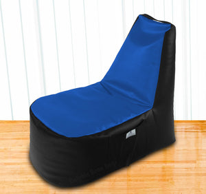 DOLPHIN XXL Boot Shape Recliner Black/R.Blue-Filled (With Beans)