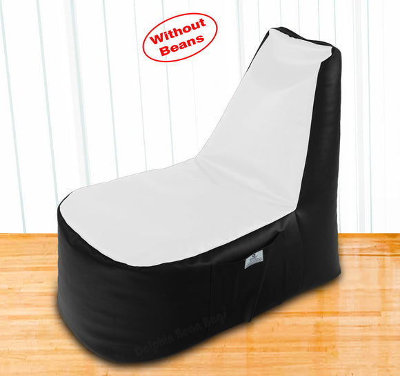 DOLPHIN XXL Boot Shape Recliner Black/White-Cover (Without Beans)