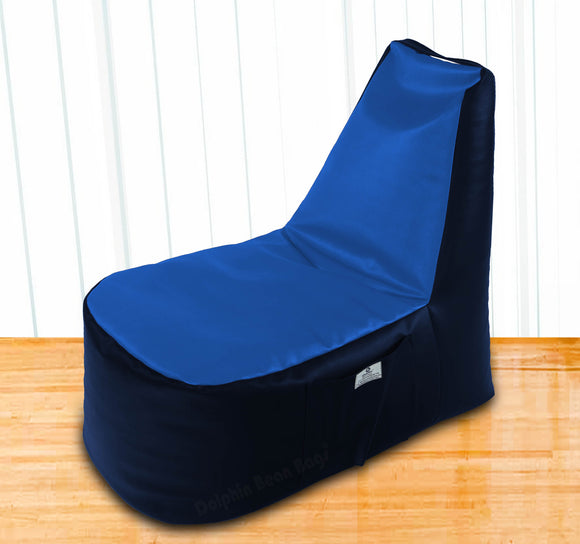 DOLPHIN XXL Boot Shape Recliner N.Blue/R.Blue-Filled (With Beans)
