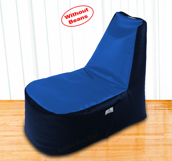 DOLPHIN XXL Boot Shape Recliner N.Blue/R.Blue-Cover (Without Beans)
