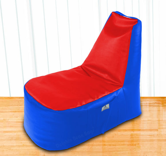 DOLPHIN XXL Boot Shape Recliner R.Blue/Red-Filled (With Beans)