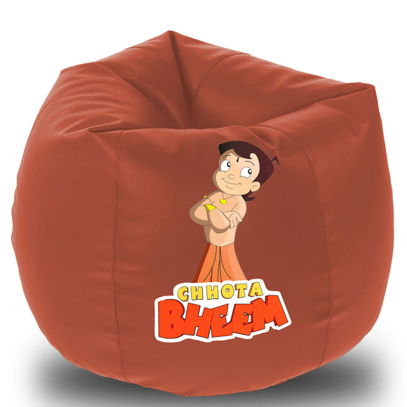Dolphin Printed Bean Bag XXL- Chota Bhim- Filled (With Beans)