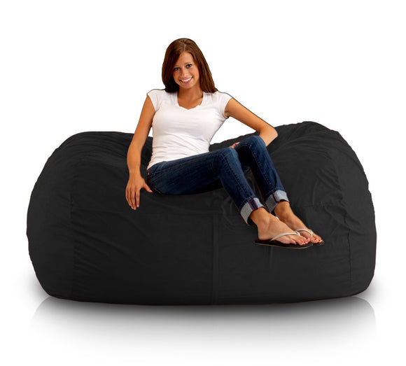 DOLPHIN FATBOY BEAN BAG Elite-Black-FILLED(with Beans)