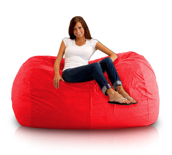 DOLPHIN FATBOY BEAN BAG Elite-RED-FILLED(with Beans)
