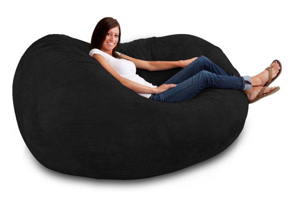 DOLPHIN FATBOY BEAN BAG -Black-FILLED(with Beans)