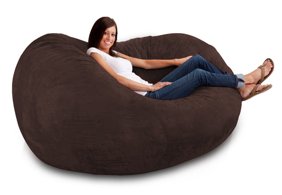 DOLPHIN FATBOY BEAN BAG -BROWN-FILLED(with Beans)