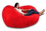 DOLPHIN FATBOY BEAN BAG -RED-FILLED(with Beans)