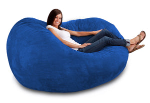 DOLPHIN FATBOY BEAN BAG -R.BLUE-FILLED(with Beans)