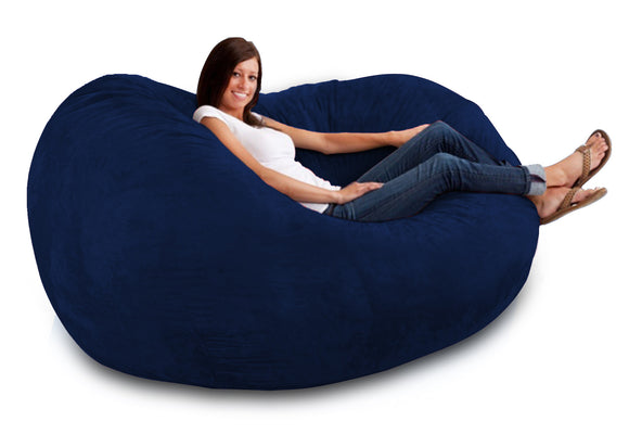 DOLPHIN FATBOY BEAN BAG -N.BLUE-FILLED(with Beans)
