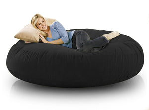DOLPHIN FATBOY BEAN BAG ROUND Black-FILLED(with Beans)