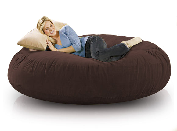 DOLPHIN FATBOY BEAN BAG ROUND BROWN-FILLED(with Beans)