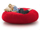 DOLPHIN FATBOY BEAN BAG ROUND RED-FILLED(with Beans)