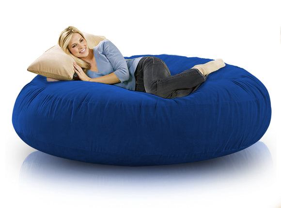 DOLPHIN FATBOY BEAN BAG ROUND R.BLUE-FILLED(with Beans)