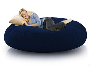 DOLPHIN FATBOY BEAN BAG ROUND N.BLUE-FILLED(with Beans)
