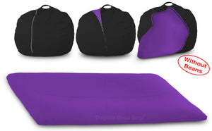 DOLPHIN FATBOY Bean Bag with Multi Use-Black/Purple-Cover (without Beans)