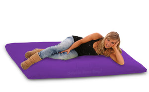 DOLPHIN FATBOY Bean Bag with Multi Use-Black/Purple-FILLED(with Beans)