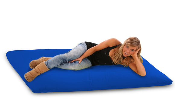DOLPHIN FATBOY Bean Bag with Multi Use-Black/R.Blue-FILLED(with Beans)