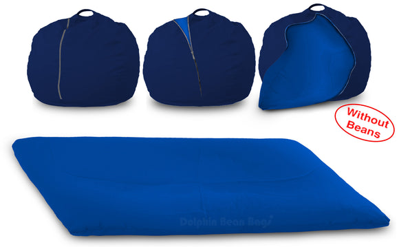DOLPHIN FATBOY Bean Bag with Multi Use-N.Blue/R.Blue-Cover (without Beans)
