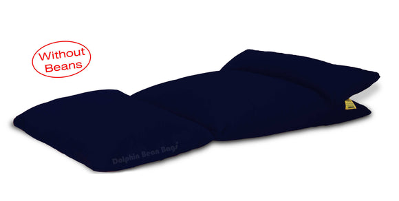Dolphin Lounger-Fabric-N.Blue-Covers (Without Beans)
