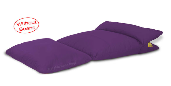 Dolphin Lounger-Fabric-Purple-Covers (Without Beans)
