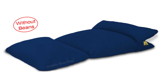 Dolphin Lounger-Fabric-R.BLUE-Covers (Without Beans)