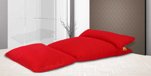 Dolphin Lounger-RED-Fabric-Filled (With Beans)