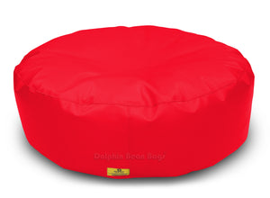 Dolphin Round Floor Cushions RED-Filled (With Beans)
