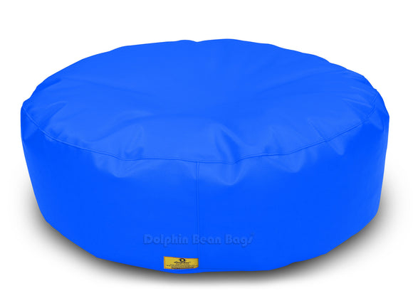 Dolphin Round Floor Cushions R.BLUE-Filled (With Beans)