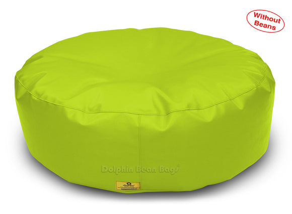 Dolphin Round Floor Cushions F.GREEN-Cover ( Without Beans)