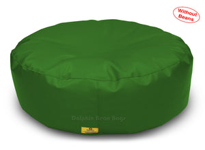 Dolphin Round Floor Cushions BOTTLE-GREEN-Cover ( Without Beans)