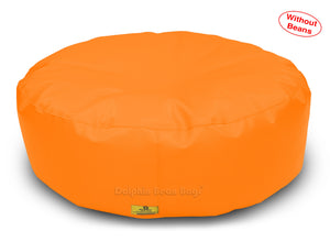 Dolphin Round Floor Cushions ORANGE-Cover ( Without Beans)