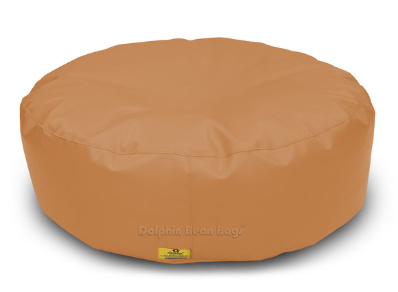 Dolphin Round Floor Cushions FAWN-Filled (With Beans)