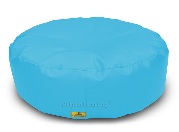 Dolphin Round Floor Cushions TURQOISE-Filled (With Beans)