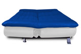Dolphin Elite Modular Sofa Cum Bed 3- Seater-(Leatherrete) -White/R.Blue