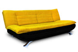 Dolphin Elite Modular Sofa Cum Bed 3- Seater-(Fabric) -Black/Yellow