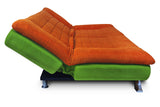 Dolphin Elite Modular Sofa Cum Bed 3- Seater-(Fabric) -F.Green/Orange