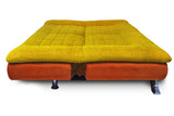 Dolphin Elite Modular Sofa Cum Bed 3- Seater-(Fabric) -Orange/Yellow