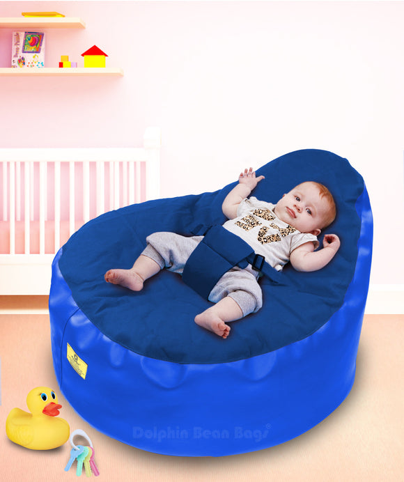 Dolphin Baby Holder Bean Bag R.Blue/R.Blue-Filled (With Beans)