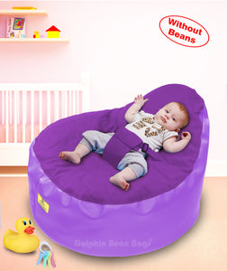 Dolphin Baby Holder Bean Bagu Purple/Purple-Cover (without Beans)